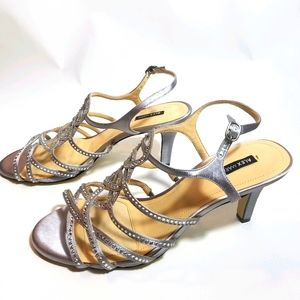 Alex Marie silver wedding - prom shoes size 10